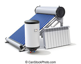 Elements of solar heating system