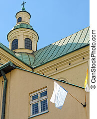 Elements of the church tower in Rzeszow, Poland.