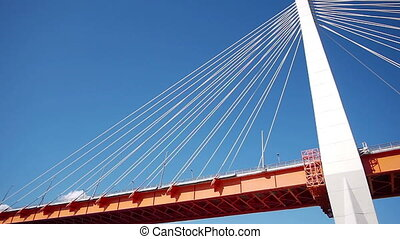 Elements of the highway bridge
