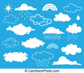 Elements of weather. Vector set