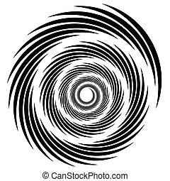 element(s)., spiraal, shapes., draaikolk, kolken, whorl,...