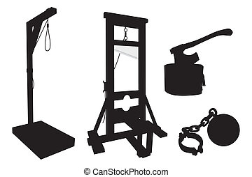 elements to perform executions on a white background