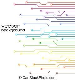 elementy, abstrakcyjny, microchip., tło, techniczny, biały