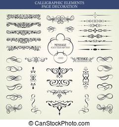 elementy, calligraphic