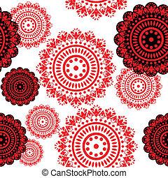 elementy, czarny czerwony
