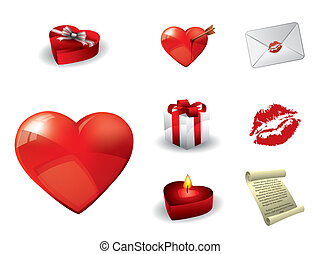 elementy, dzień, valentine