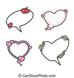 elementy, komplet, dzień, 01, valentine