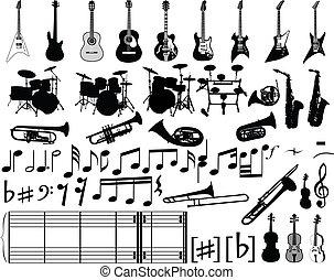 elementy, muzyczny