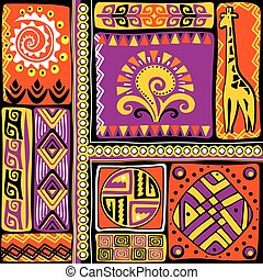 elementy, projektować, afrykanin