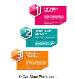 elementy, projektować, szablon