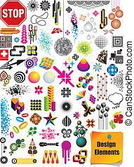 elementy, projektować, zbiór