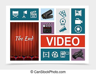 elementy, skład, kino