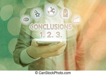elenchi, suppositions, concettuale, esposizione, segno, 2., testo, presumptions., conclusions, numeri, 1., 3.., foto