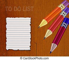 elenco, astratto