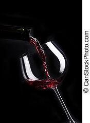 elenco, disegno, vino