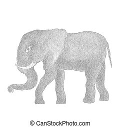 elephant., ベクトル, イラスト