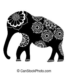 elephant., 黒, 民族