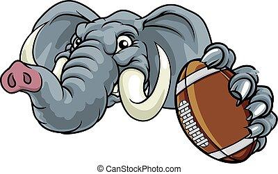 An elephant monster face illustration.