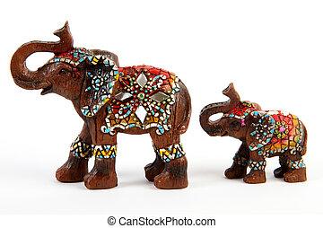 Elephant and baby elephant souvenir / decor - Elephant...