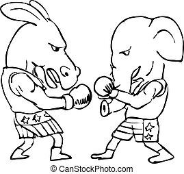 Elephant-and-donkey-boxing-DWG