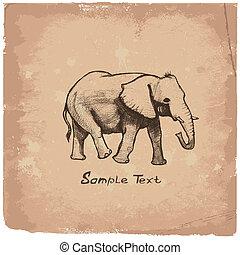 Elephant Art drawing
