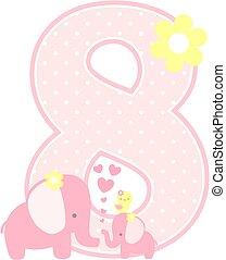 elephant baby girl number 8