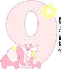 elephant baby girl number 9