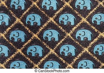 Elephant background fabric