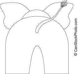 elephant bottom - cartoon elephant back