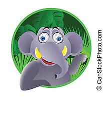 Elephant  cartoon character