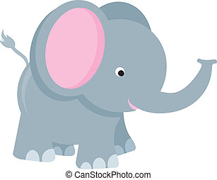 elephant cartoon - elephant modern colour cartoon character...