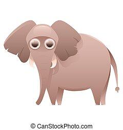 Elephant cute cartoon character
