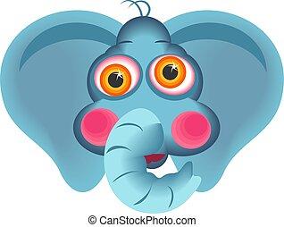 Elephant - Cute elephant face.