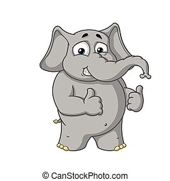 Big collection vector cartoon characters of elephants on an isolated background. Shows likes