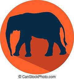 elephant flat design icon