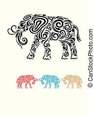 Elephant floral.