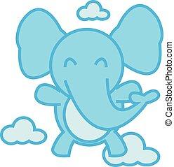 Elephant Flying vector