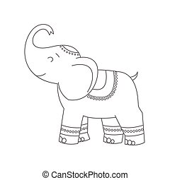 Elephant for coloring book.