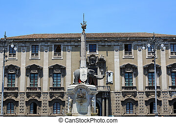 Elephant Fountain Catania - the Elephant Fountain in...