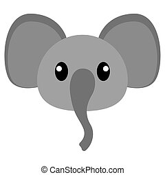 Elephant head cartoon