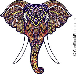 Elephant Head Colored