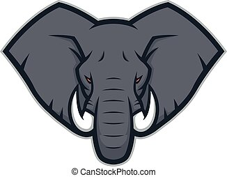 Elephant head mascot logo