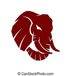 Elephant Head Mascot Logo Design Vector Illustration Template isolated