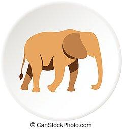 Elephant icon circle