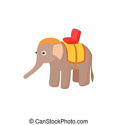 Elephant icon in cartoon style