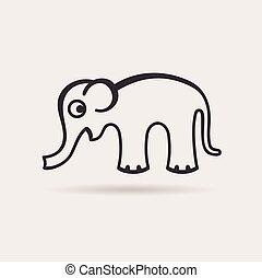elephant icon. vector emblem
