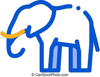 Elephant Icon Vector Outline Illustration