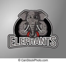 Elephant Illustration design badge