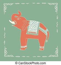 Elephant illustration in vector.