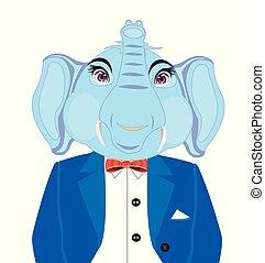 Elephant in suit